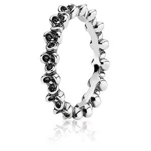 Pandora Sterling Silver Floral Ring
